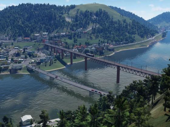 """Doppel""-Brücke Alf-Bullay / Alf-Bullay ""double"" bridge"