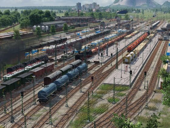 Güterbahnhof fast fertig