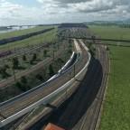 Fortschritt des Gleisvorfeldes von Vögele/ Fertigstellung der Vegetation