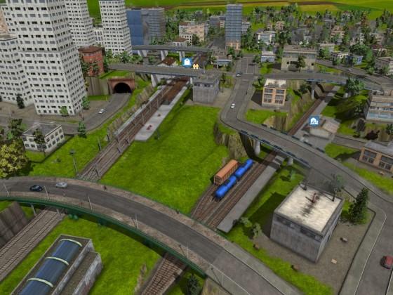 Bahnhof unter Brücken