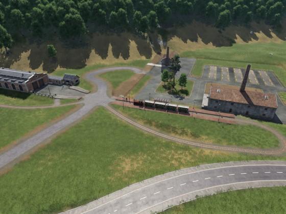 Überblick über das Ziegelwerk und die Werkbahn