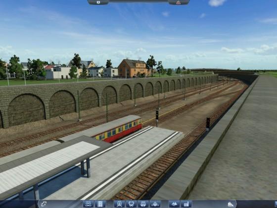 Der fertig gestellte Bahnhof Greifswalder Straße