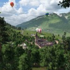 Wiederaufbau: Burg mit Mittelaltermarkt und Heißluftballonclub