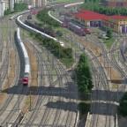 Blick vom Dach des Hauptbahnhof Freifeld in Richtung Norden