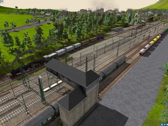 Oberau: Bahnhofseinfahrt