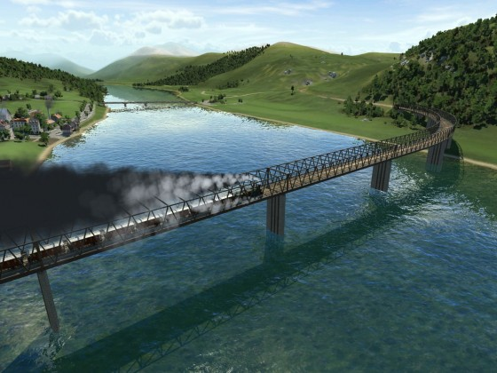 Südbahn Reihe 19 startet in Graz über die neu eröffnete Murbrücke