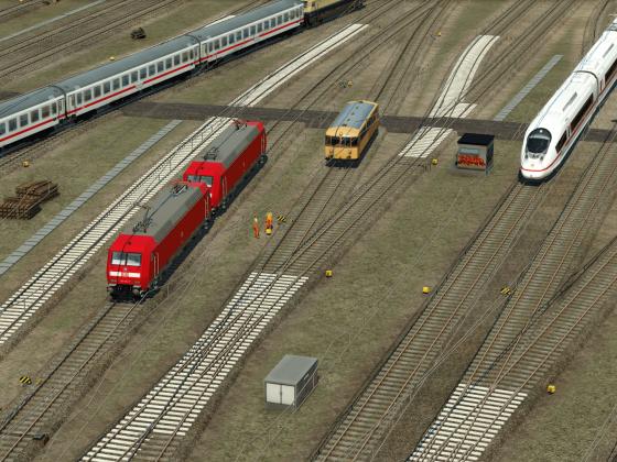 Wartungsarbeiten im Bahnhofsvorfeld
