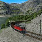 Im wunderschönen Fjordtal mit einem Erzzug