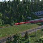 Regionalzug unterwegs