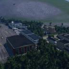 Kleiner Abstellbahnhof mit E-Lokschuppen