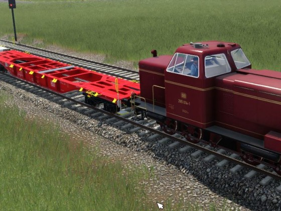 BR265 mit SGNS 60 Container Waggon