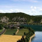 Rheintal Map - Kleines Dorf vor Rheinau