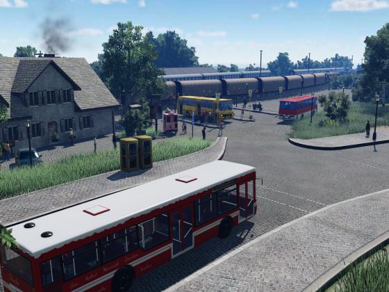 Bahnhofstraßeneinfahrt Früher