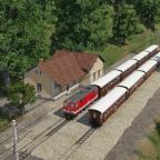 """Die 1099 013 """"Ötscherbär"""" nach St. Pölten trifft die 2095 nach Mank in Schwadorf, die als Ausweichgleis benutzt wird"""