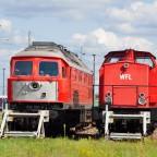 Bahnanlage Elstal - BR 232 & V100