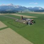 Kleiner Bauernhof in den Bergen