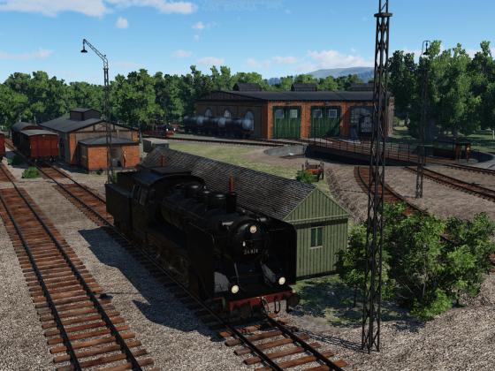 Ersatzteilieferung für das Bw Grossenhain