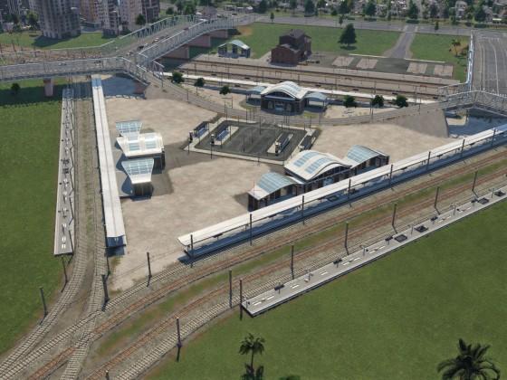 Trigon-Bahnhof im Bau