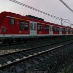 Nahaufnahme einer S-Bahn (BR 423)