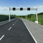Matrixborden - Niederländische Fahrbahn und Geschwindigkeitsanzeige