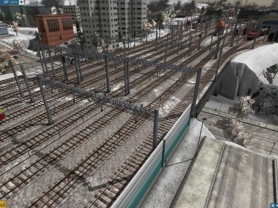 Blick HBF Richtung linkes Bahnhofsvorfeld