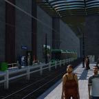 (fast) unterirdische Tramstation