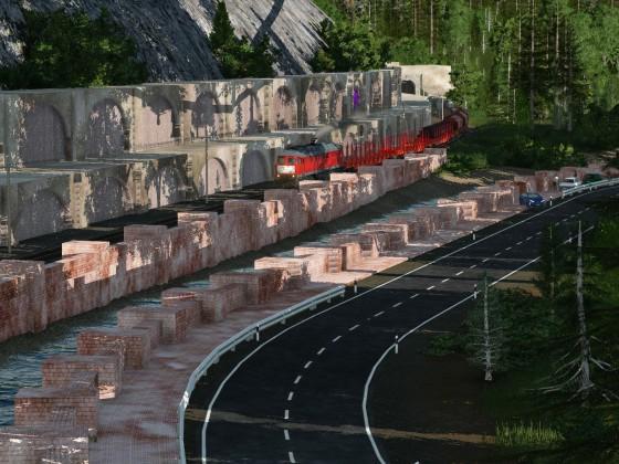 Ein Güterzug auf Reisen