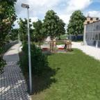 Mit etwas künstlerischer Freiheit BZZ Quartierschule von Osten her