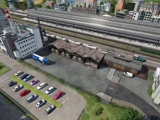 """Industrien mit """"Spitzkehre"""" und """"Freight Classification Yard"""""""