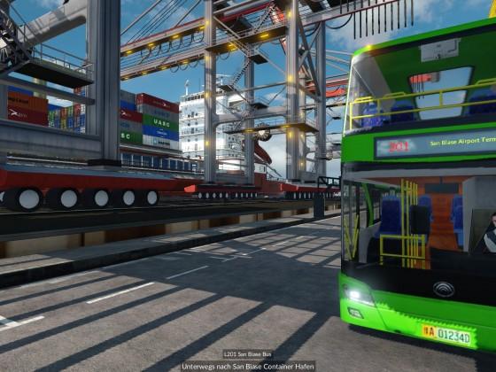 Buslinie durch den Container Hafen 2