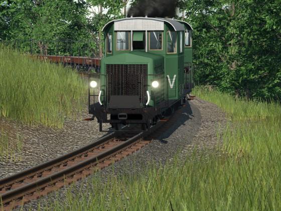 Schmalspurbahn aktion
