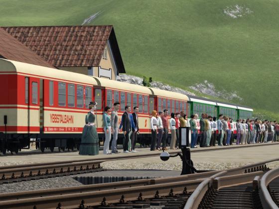 Betrieb bei der Ybbstalbahn - Ybbstalbahn Waggons