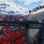Bergstrecke im Herbst