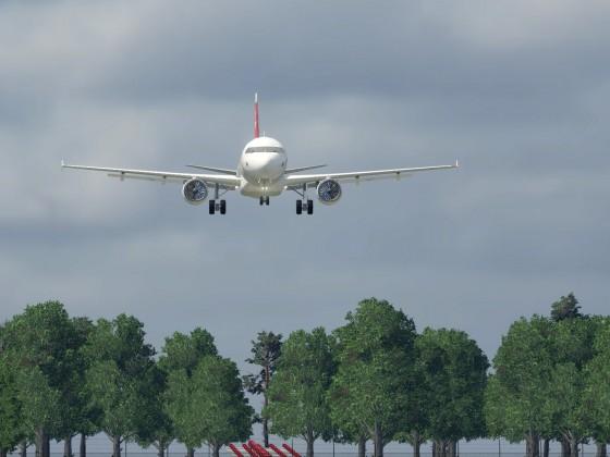 LX435 aus ZRH on final approach