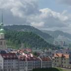 Von Nord Westen ¨über die Altstadt. In der ferne sieht man noch die Marienburg von Wikon