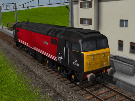 Killerkranz's Class 47 with Virgin (black) Livery