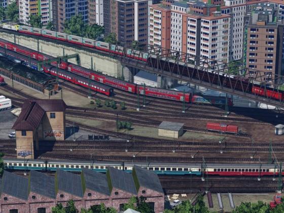Gleisvorfeld mit Brücke 2