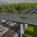 TGV unter Brücke