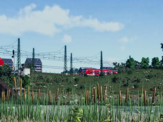 Bridge at the suburban railway...
