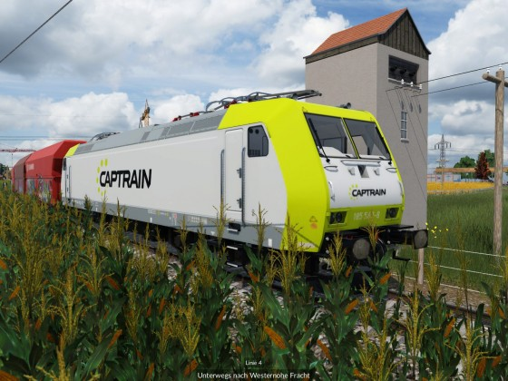 BR 185 von Cuptrain übernimmt dann auf der Hauptstrecke