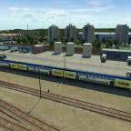 Dostos Garnitur im Bahnbetriebswerk