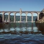 Custom bridge over the river