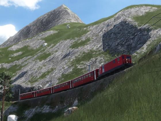 Zahnrad-Zug der FO (Furka-Oberalp-Bahn)