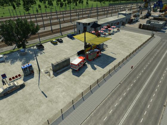 Modernisierter Güterbahnhof