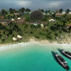 Ausgrabungen auf einer kleinen karibischen Insel