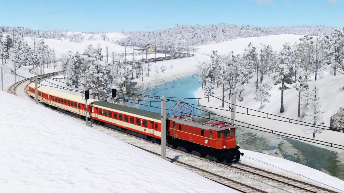 1245er verlässt den Bahnhof
