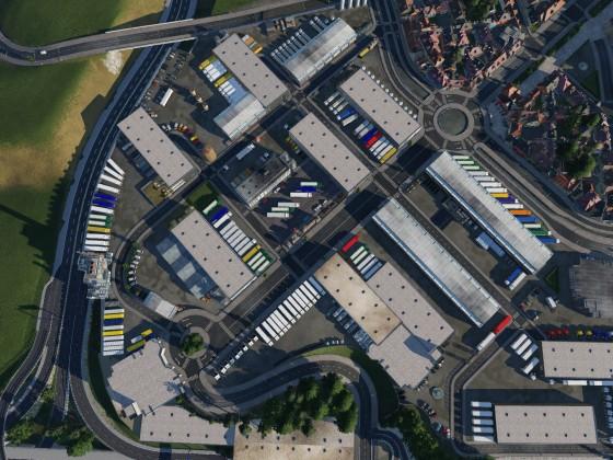New Industrial Area in Suburbs of Paris