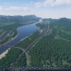 Blick den Fluss runter nach Rehau
