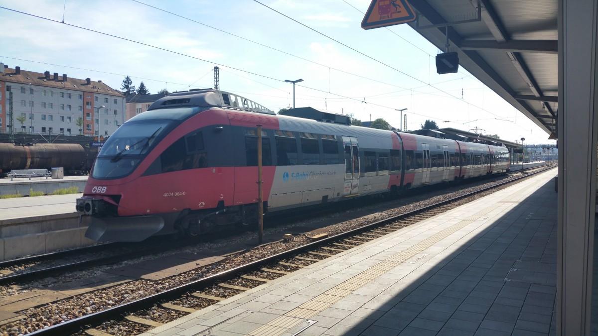 ÖBB 4024 064-0 im Passauer Hauptbahnhof - City Shuttle nach Linz