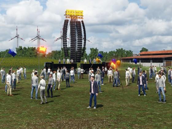 Protestkundgebung gegen Atomkraft